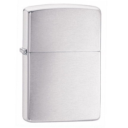 Зажигалка ZIPPO Armor c покрытием Brushed Chrome, серебристая матовая